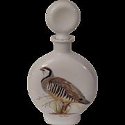 Milk Glass Decanter with Chukar Partridge by Arthur Singer