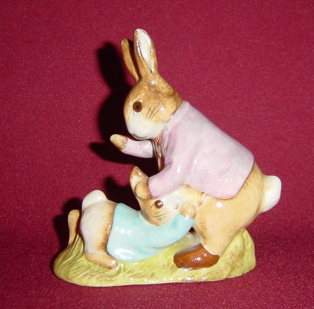 Beswick Beatrix Potter Mr Benjamin Bunny and Peter Rabbit