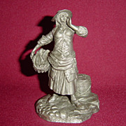 The Fishwoman from Franklin Mint Street Seller of Old London Town