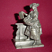 The Playbill Seller from Franklin Mint Street Seller of Old London Town series