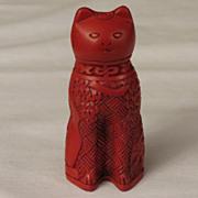 Franklin Mint Cinnabar Curio Cabinet Cat