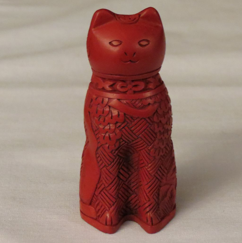 Franklin Mint Cinnabar Curio Cabinet Cat from alleycatlane on Ruby ...
