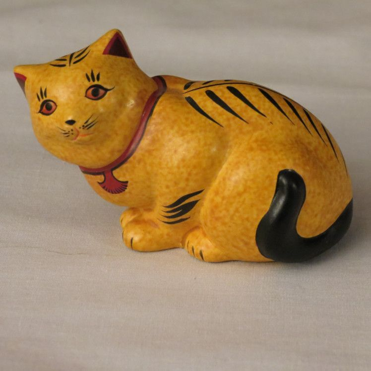 Franklin Mint Chalkware Curio Cabinet Cat from alleycatlane on ...