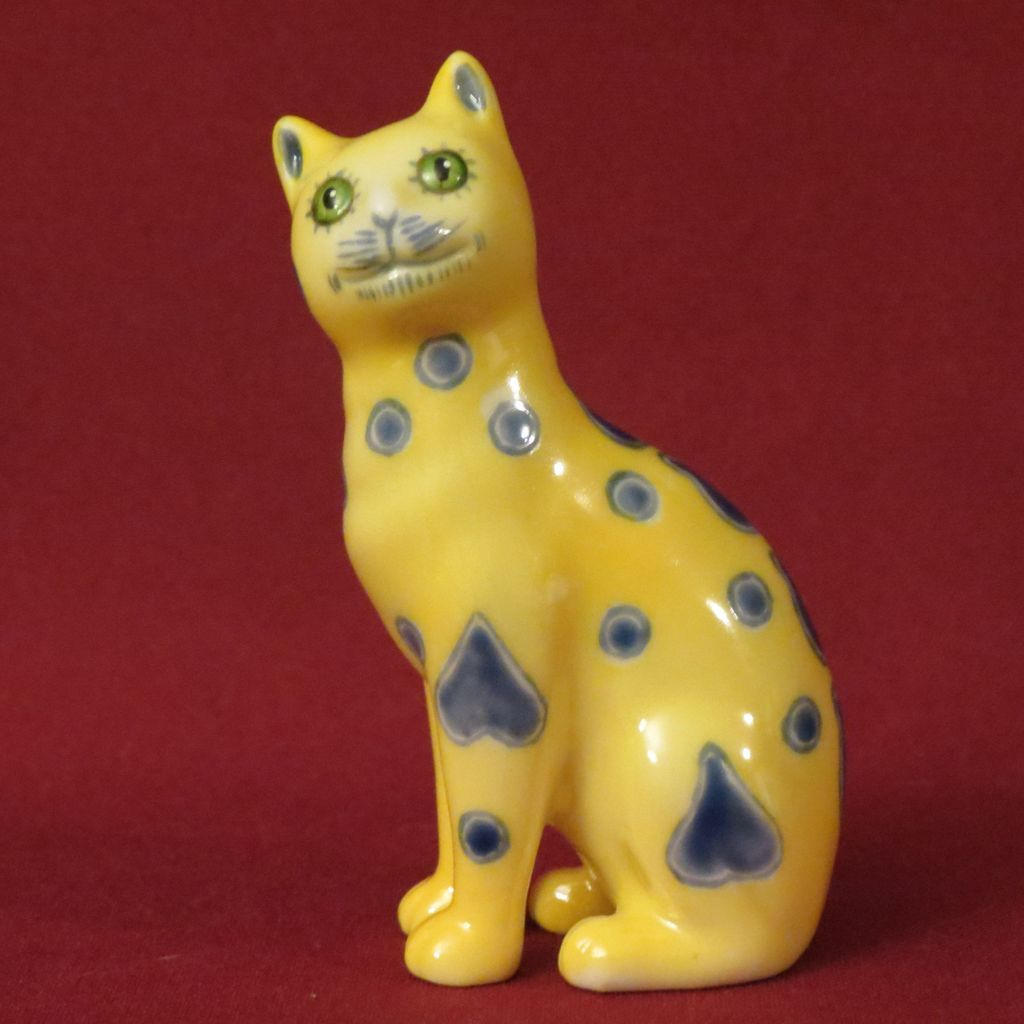 Franklin Mint Galle Curio Cabinet Cat from alleycatlane on Ruby Lane