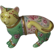 Franklin Mint Curio Cabinet Cat Famille Rose