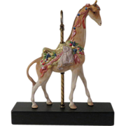 Cybis Carousel Giraffe Sir Cuthbert Signed Limited Edition