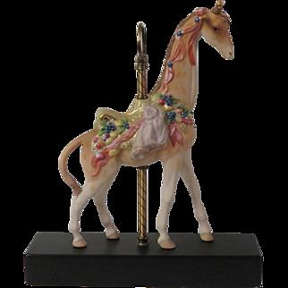 Cybis Carousel Giraffe Sir Cuthbert Signed Limited Edition