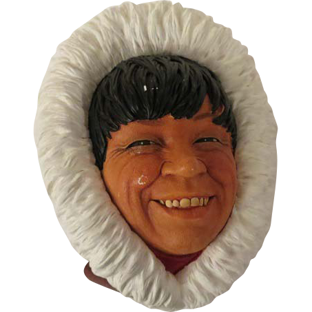 Bossons Eskimo Wall Mask Head Plaque