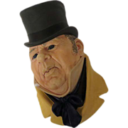 Bossons Mr Micawber Wall Mask Head Plaque