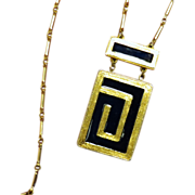 Estee Lauder Royal Enamel Solid Perfume Pendant Necklace