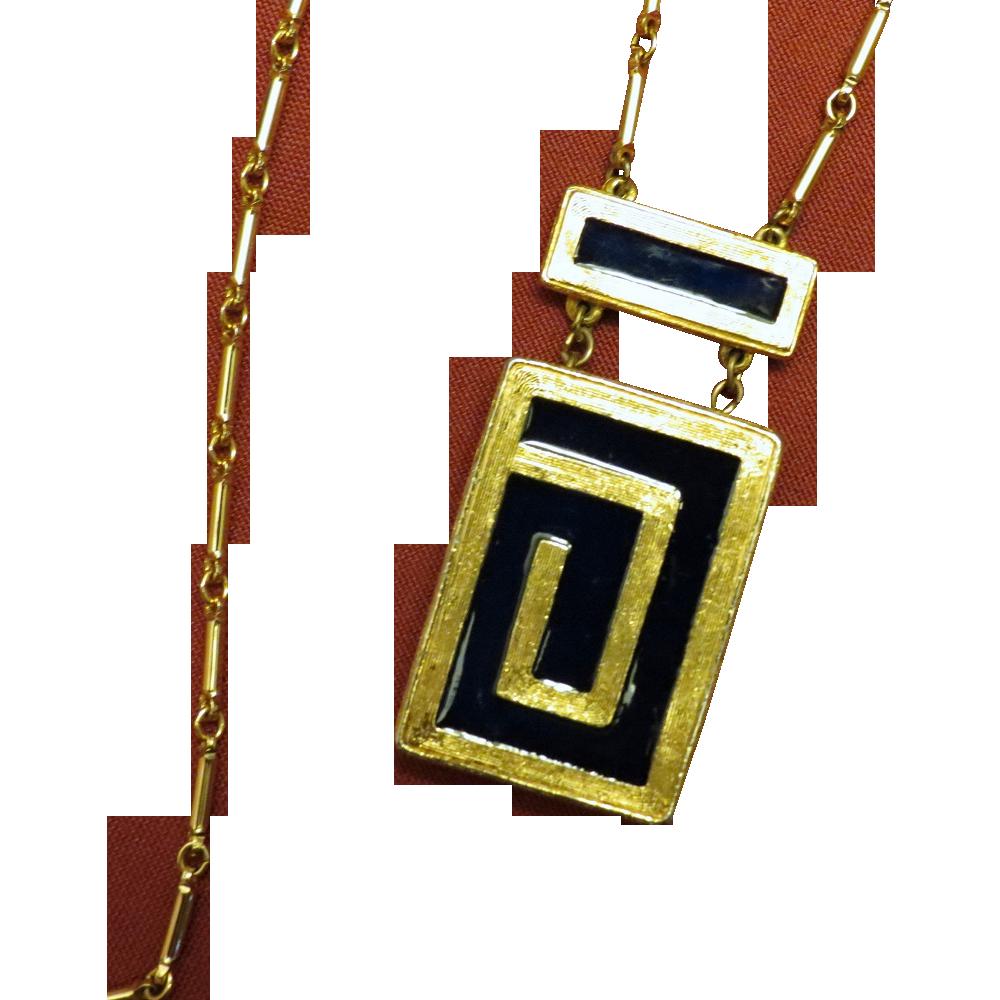 estee lauder royal enamel solid perfume pendant necklace