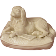 Belleek King Charles Spaniel Parian China Figurine