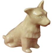 Belleek Parian China Cairn Terrier Dog