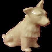 Belleek Parian China Cairn Terrier Dog