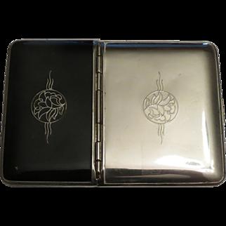 Richard Hudnut Combination Compact and Cigarette Case