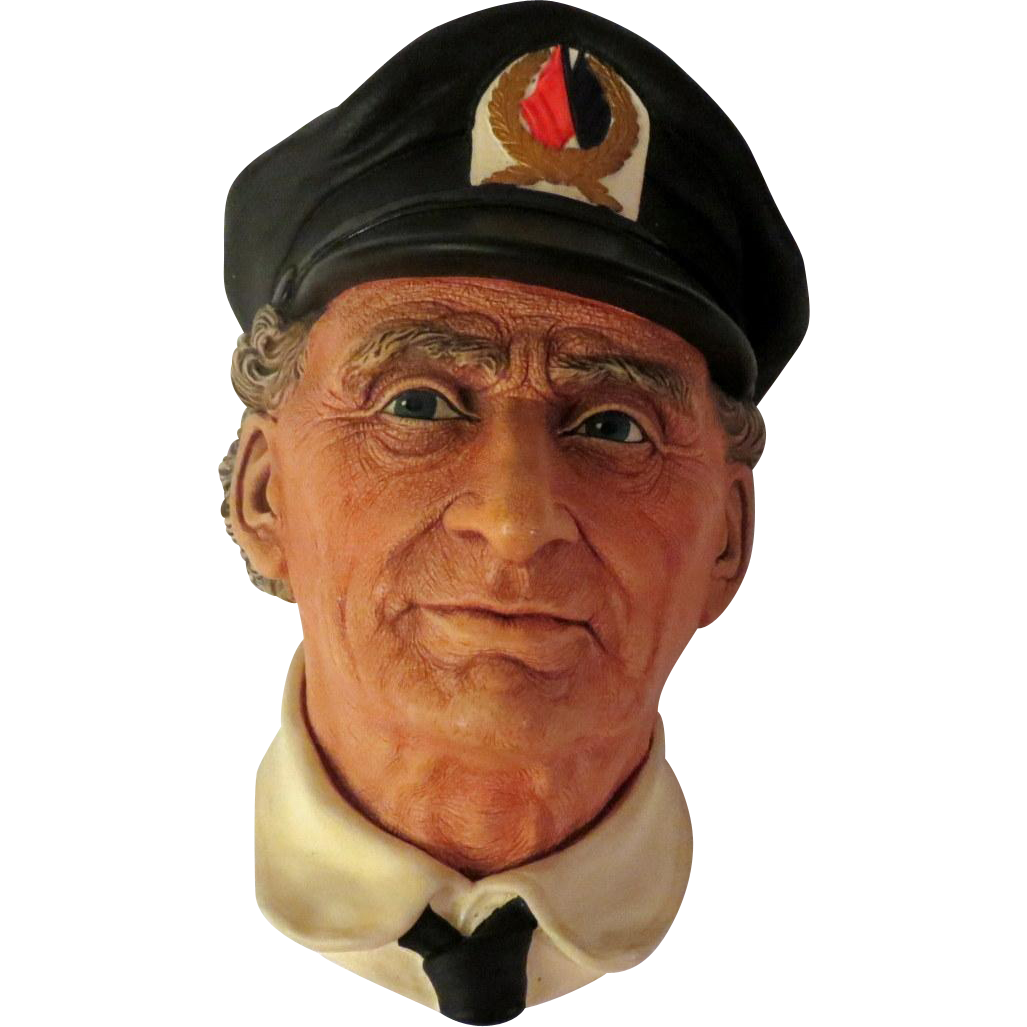 Bossons Sea Captain Retired Wall Head Plaque