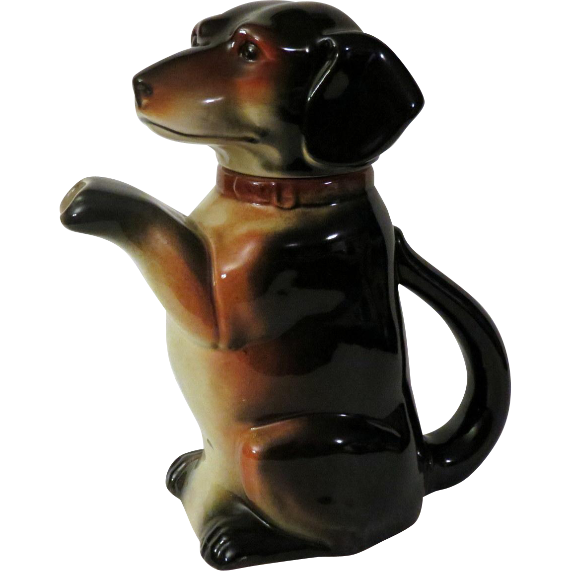German Erphila Dachshund Dog Teapot