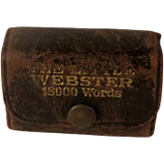 The Little Webster Miniature Liliput Dictionary