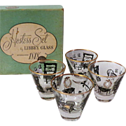 Libbey Barware Hostess Set of Curio Jiggers