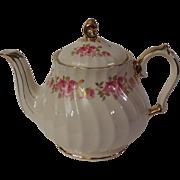 Sadler Pink Roses and Gilt Teapot