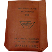 Western Union Messenger's Kit c. 1937-38