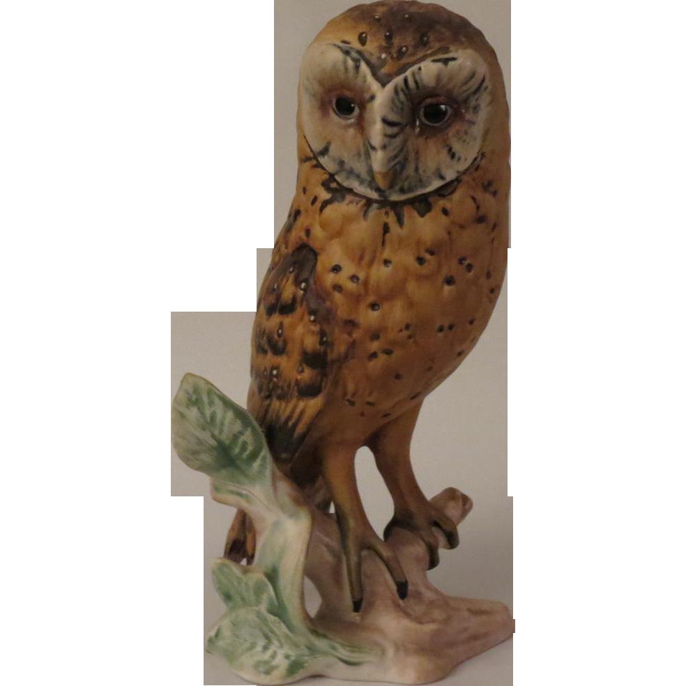 Goebel Barn Owl Porcelain Figurine Alley Cat Lane