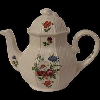 Arthur Wood Floral Basketweave Teapot
