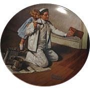 Norman Rockwell Collector Plate The Painter