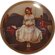Norman Rockwell Collector Plate Waiting at the Dance
