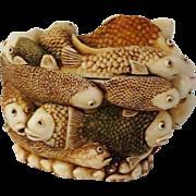 Harmony Kingdom Treasure Jest Fish Box Figurine Play School