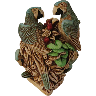 Signed Harmony Kingdom Pieces of Eight Limited Edition Treasure Jest with Parrots