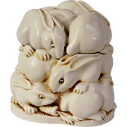 Harmony Kingdom Rather Large Hop Large Treasure Jest Rabbit Box Figurine
