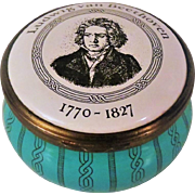 Bilston and Battersea Ludwig van Beethoven Enamel Box for Cartier