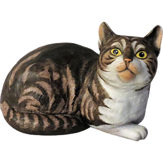 Fascination Tabby Cat by Eric Tenney for Franklin Porcelain