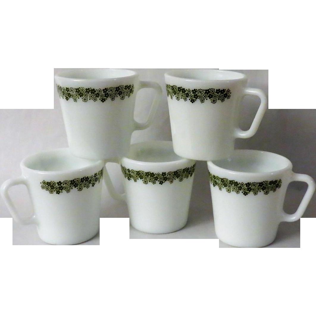 Pyrex Crazy Daisy Coffee Mugs - set of 5