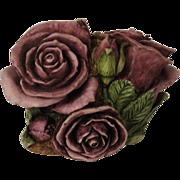 Signed Harmony Kingdom Double Violet Rose Limited Edition Box Figurine