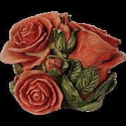 Harmony Kingdom Double Pink Rose Box Figurine