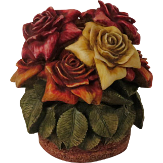 Signed Harmony Kingdom Rose Party Limited Edition Box Figurine