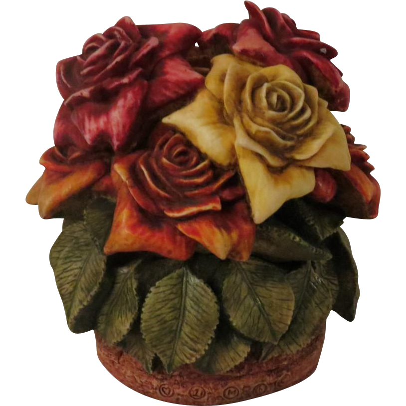 Signed Harmony Kingdom Rose Party Limited Edition Box Figurine