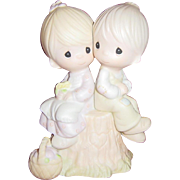 Precious Moment Jonathan & David Porcelain Figurine Love One Another E-1376