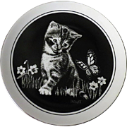 Royal Cornwall  Droguett Kitten's World Are You a Flower Limited Edition Collector Plate
