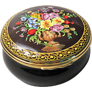 Halcyon Days Dutch Old Master Extra Large Round Enamel Box