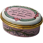Halcyon Days Enamel Box Je T'aime Each Day I Love You More