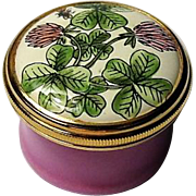Halcyon Days Mini Enamel Box with Clover