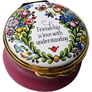 Halcyon Days Enamel Box Friendship Is Love With Understanding