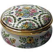 Halcyon Days Large Floral Enamel Box