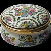 Halcyon Days Large Floral Enamel Box