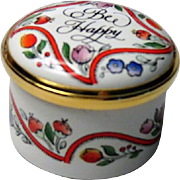 Halcyon Days Small Enamel Box Bee Happy