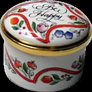 Halcyon Days Small Enamel Box Bee Happy