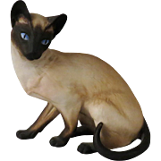 Anticipation Siamese Cat by Eric Tenney for Franklin Porcelain